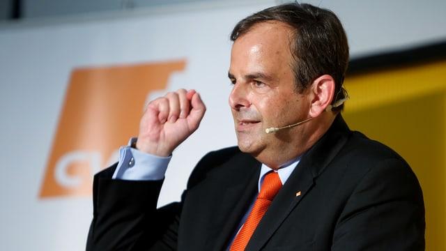 Gerhard Pfister: Il president da la PCD tar in pled durant il di da partida ad Appenzell.