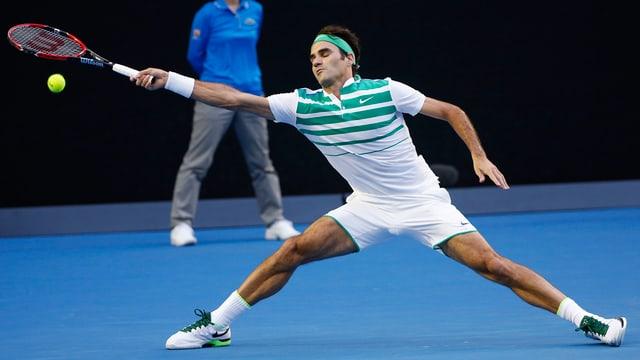 Roger Federer durant l'Australian Open.