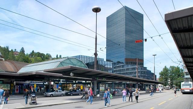 Das St. Galler Rathaus beim Hauptbahnhof.