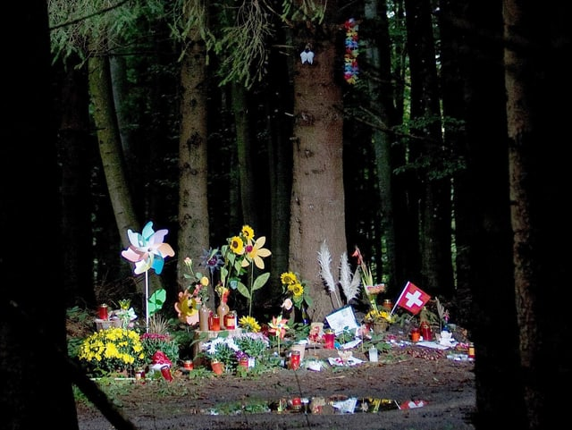Die Waldstelle, wo Ylenia gefunden wurde.