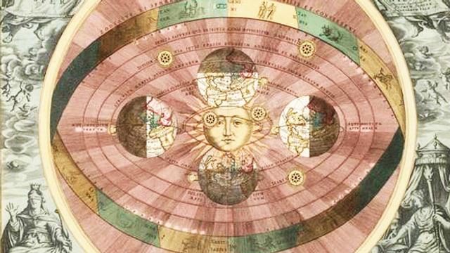 Ein heliozentrisches Weltbild.