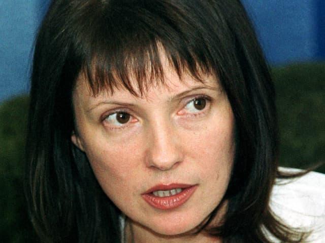 Julia Timoschenko im Jahr 2000 noch mit braunen Haaren als Vizeministerpräsidentin