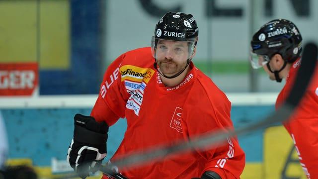 Julien Vauclair auf dem Eis.