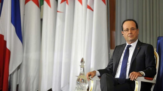 François Hollande in Algier.