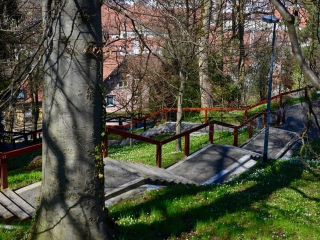 Treppe Fluhweg St.Gallen