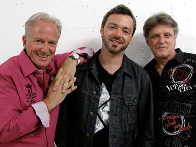 Calimeros-Gründer Roland Eberhart, Rapper Greis und Gitarrist Andreas Rynert.