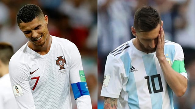 Cristiano Ronaldo (l.) & Lionel Messi