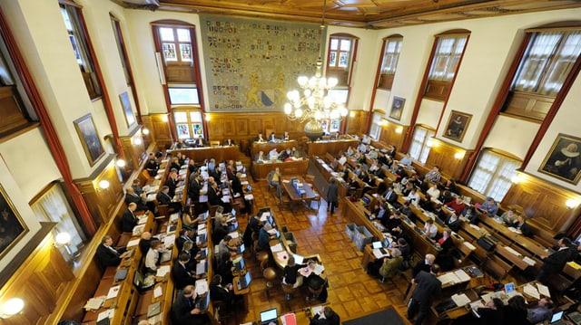 Der Gemeinderatsaal im Zürcher Rathaus.