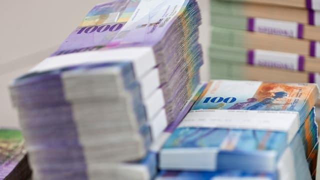 Schweizer Banknoten.