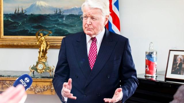 Il president islandais Olafur Ragnar Grimsson