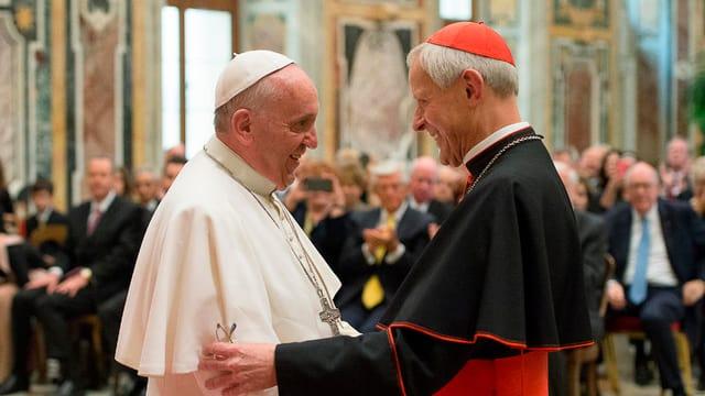 Papst und Donald Wuerl