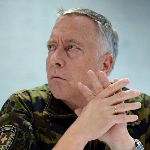 Cumandant da corp André Blattmann, il schef da l'Armada svizra.