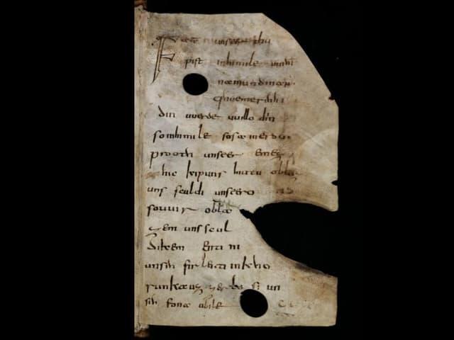 Pergament mit Handschrift