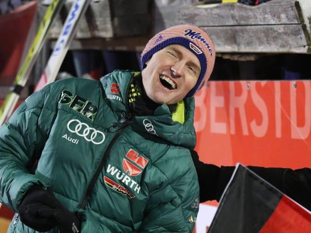 Severin Freund lacht