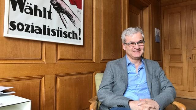 Markus Somm in seinem Büro bei der Basler Zeitung.