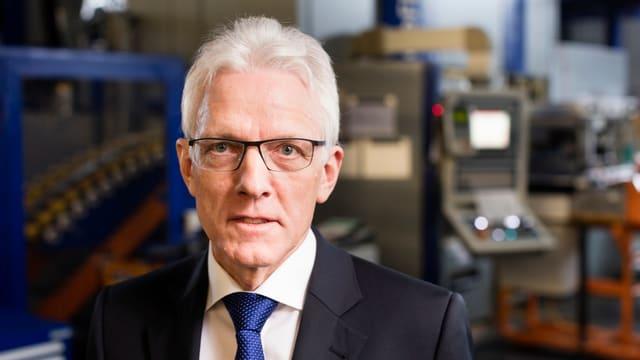 Zu sehen ist Feintool-Konzernchef Heinz Loosli.