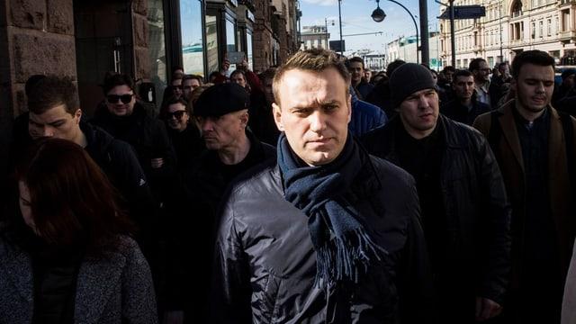 Alexei Nawalny in Nahaufnahme