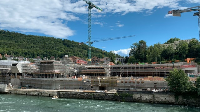 Die Therme im Bauzustand vom Juni 2020.