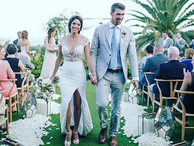 Michael Phelps und Nicole Johnson
