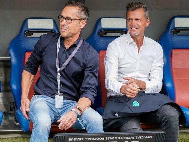 Matthias Hüppi und Alain Sutter.