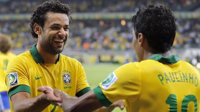 Fred (links) schoss Fluminense in der vergangenen Saison zum brasilianischen Meistertitel.