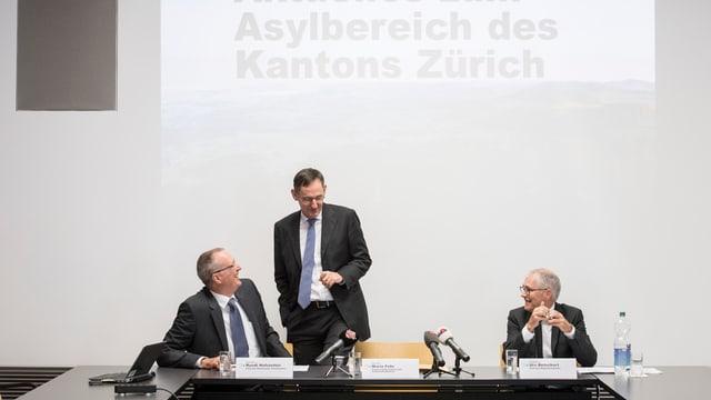 Foto aus der Pressekonferenz mit dem Titel: «Aktuelles Zum Asylbereich des Kantons Zürich»