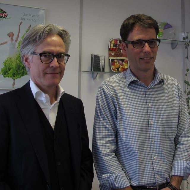 Die Salatköpfe: Der künftige Eisberg-Geschäftsleiter Christian Guggisberg (links), sein Vorgänger Stefan Brägger.