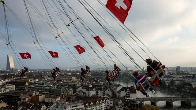 Blick aus der Vogelperspektive aus Basel