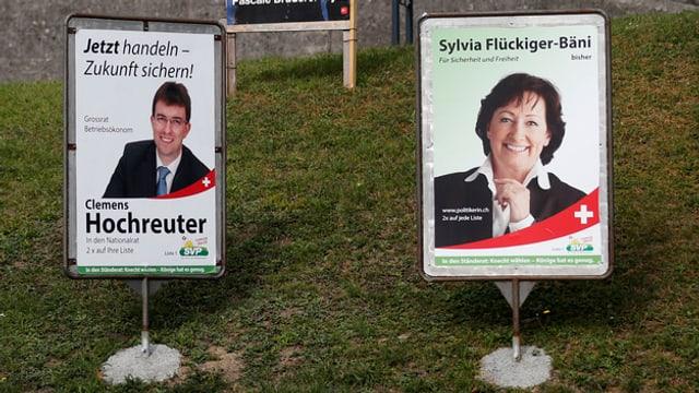 Wahlplakate der SVP Aargau