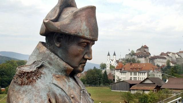 Statue von Napoleon in Aargau
