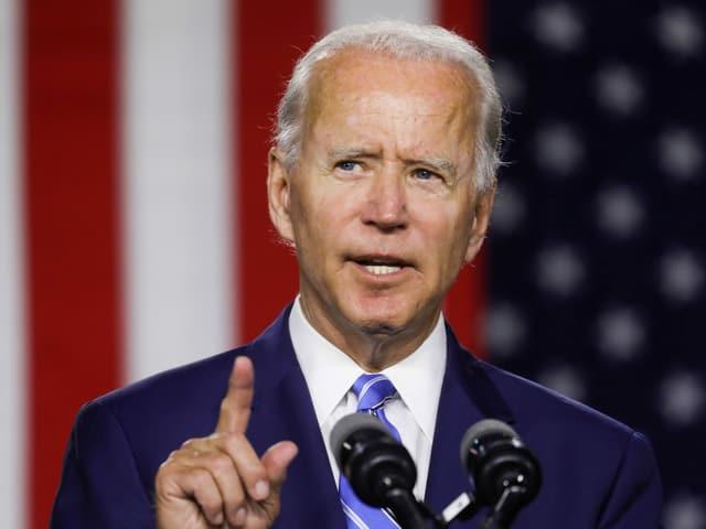 Joe Biden an einer Wahlkampfveranstaltung.