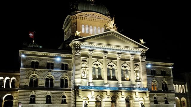 Bundeshaus in der Nacht.