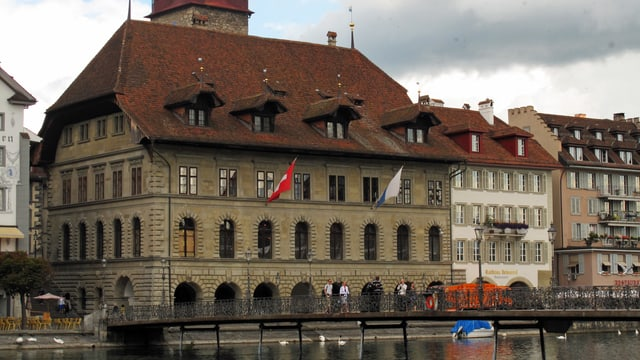 Historisches Gebäude: Rathaus der Stadt Luzern