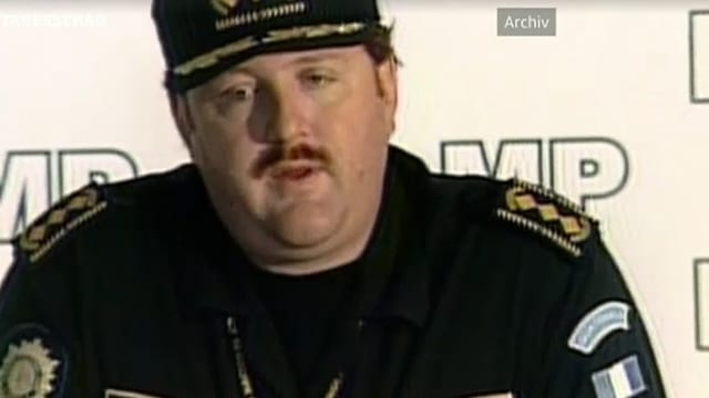 Erwin Sperisen in Polizeiuniform.