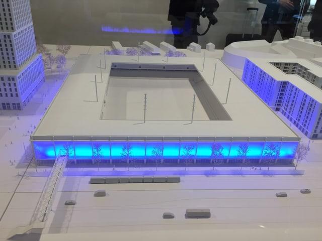 Modell des Stadion-Projekts auf dem Hardturm-Areal
