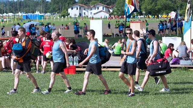 Die Athleten konnten ihr Programm beim Turnfest wieder aufnehmen.