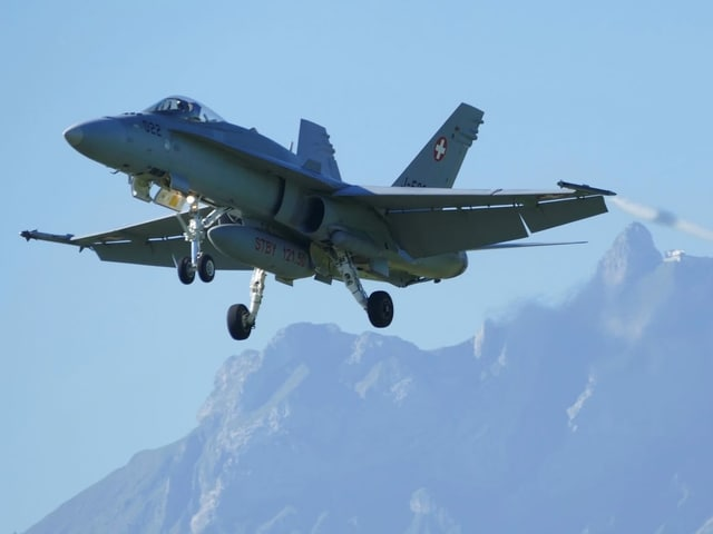 Kampfjet F/A-18.