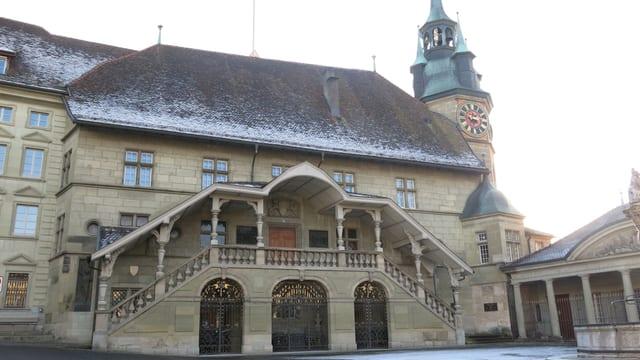 Das Rathaus Freiburg.