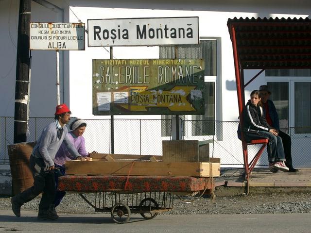 Dorfeingang von Rosia Montana