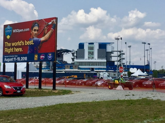 Blick auf die Tennis-Anlage in Cincinnati