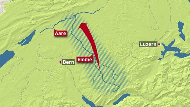 Karte Emme