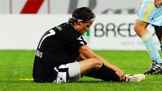 Linus Hallenius im Trikot des FC Lugano, für den er in der Saison 2010/11 spielte.