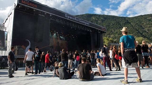 Bühne des Openairs Gampel.