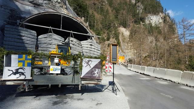 Entrada dal nov tunnel Val Pischöt avant la siglientada.