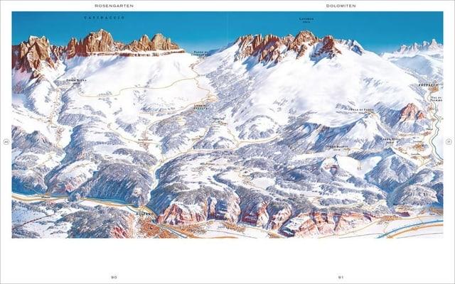 Eine Karte von den Dolomiten