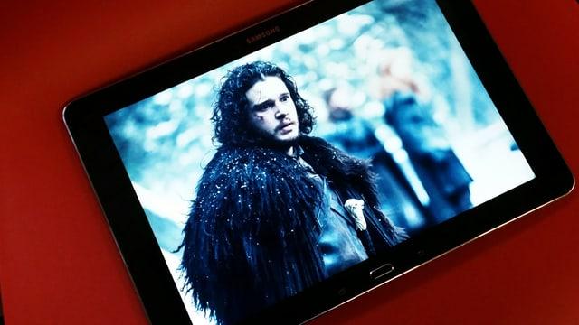 Bild von John Snow auf einem Tablet.