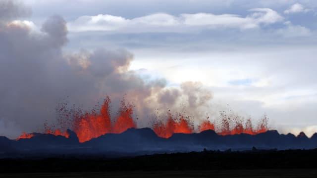 In crater cun lava e fim
