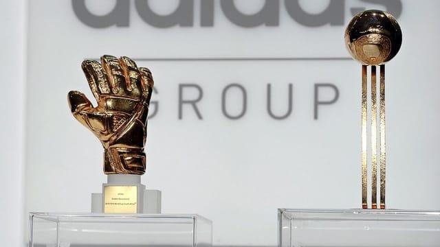 Der «Goldene Ball» und der Pokal für den besten WM-Goalie, der ebenfalls am Sonntag vergeben wird.