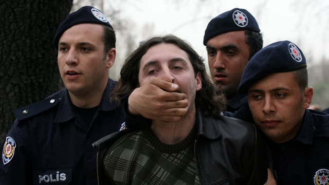 Demonstrant in Ankara