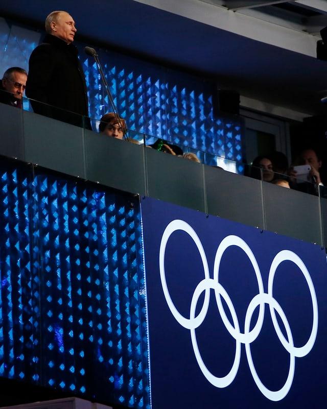 Wladimir Putin erklärt die Spiele für eröffnet.